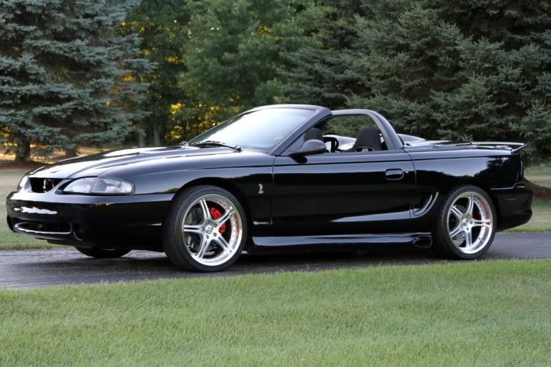 1998cobra Jpg Ford Mustang Cobra In Ebay Motors 1998 Triple Black Convertible