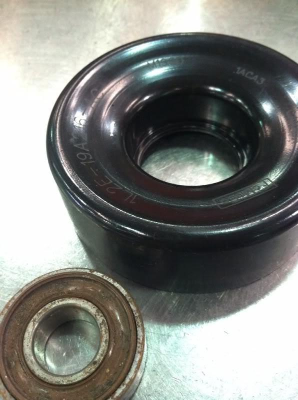 HOW-TO replace an idler/tensioner pulley bearing