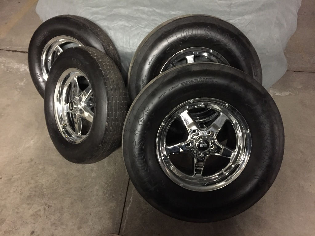 Rims And Tires Canada >> Brand New Chrome SVE Drag Wheels 15x3.5 and 15x10 With New Skinny Tires and Slicks ...