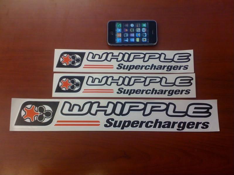 WHIPPLE supercharger decals | SVTPerformance com
