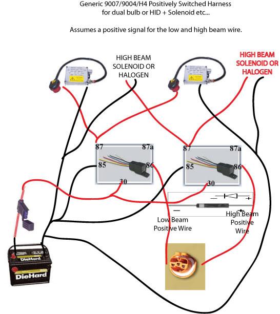 hi lo hid 9007 wiring harness hid wireing help svtperformance com  hid wireing help svtperformance com