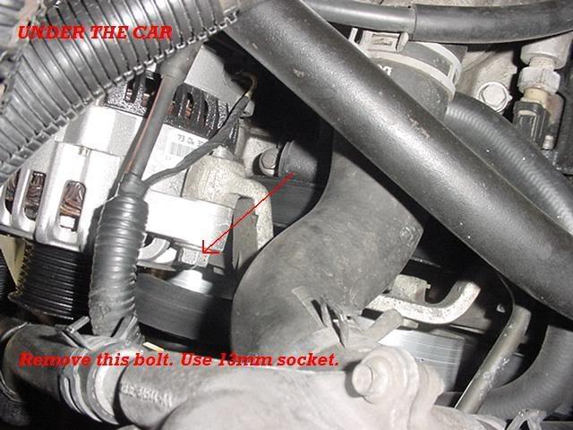 "How to remove/install 03/04 cobra alternator ""did some ..."