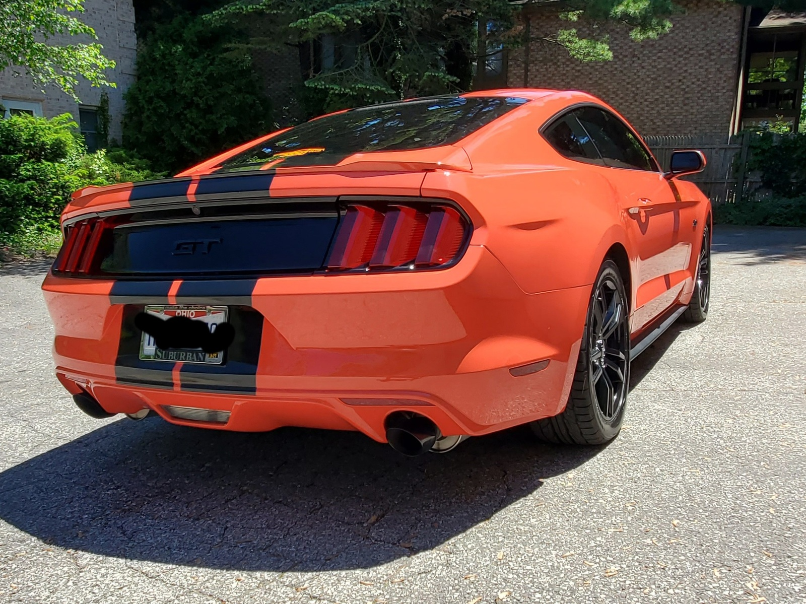 mustang orange gt competition miles low svtperformance