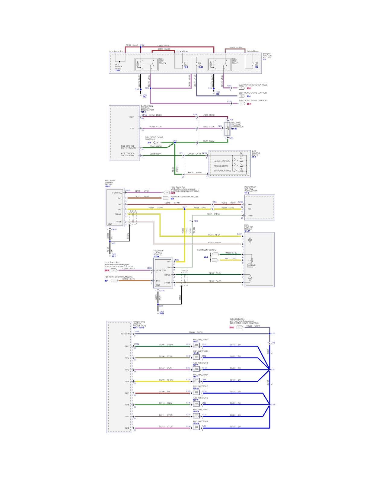 2013-2014 GT500 Fuel Pump Connector wire/pin schematic | SVTPerformance.com | Gt 500 Wiring Diagram |  | SVTPerformance.com