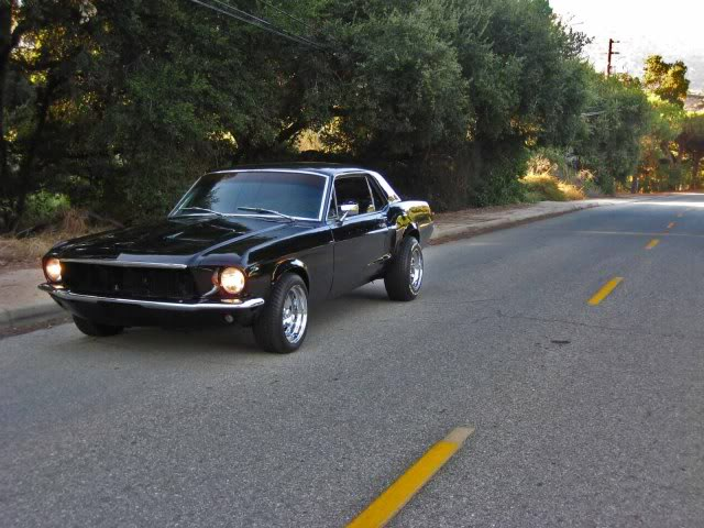 **For Sale** 1968 Mustang Coupe 302 Restored Black/Cream ...1968 Mustang Coupe Black
