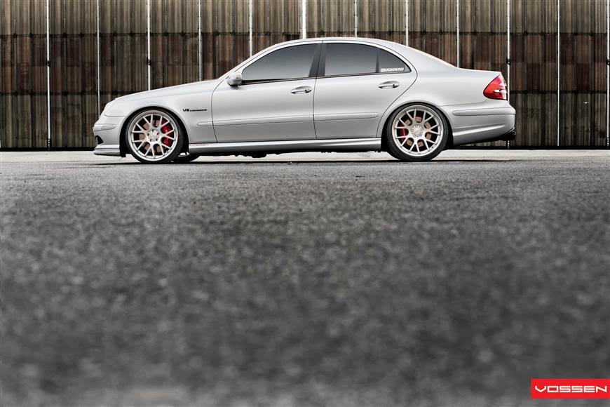 Extreme Modified E55″ 600hp Mercedes E55 AMG | Vossen CV2 Wheels