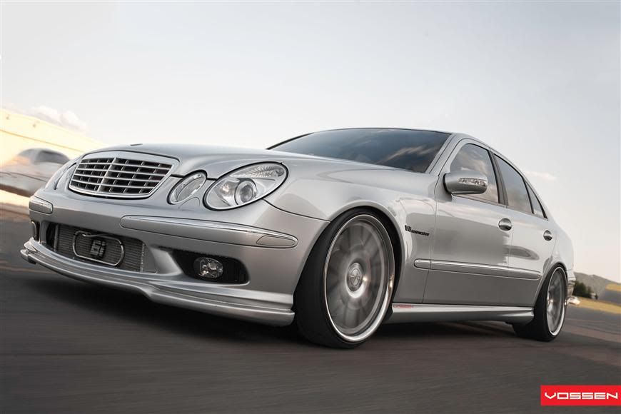 Extreme Modified E55″ 600hp Mercedes E55 AMG | Vossen CV2 Wheels