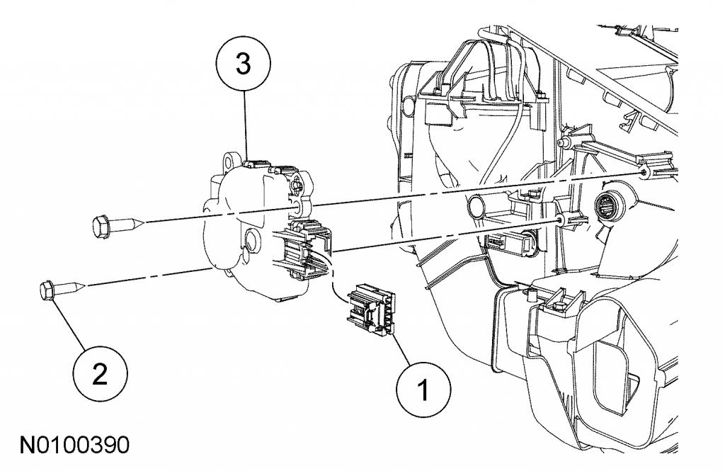 a  c blend door motor