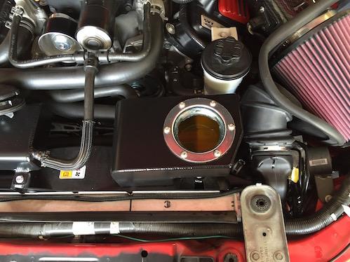 VMP Triple pass heat exchanger install on a 2010 GT500